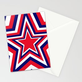 Fourth of July Star Stationery Cards