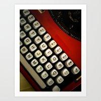 typewriter Art Prints featuring Typewriter by Mauricio Santana