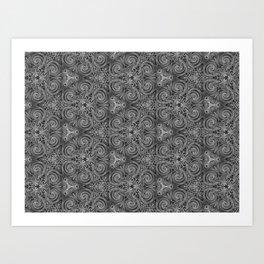 Gray Swirl Pattern Art Print