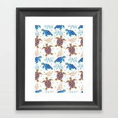 The Sea Turtle Pattern Framed Art Print