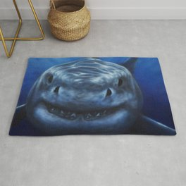 white pointer shark Rug