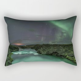 Godafoss Night 2 Rectangular Pillow