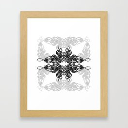Abstract floral background Framed Art Print