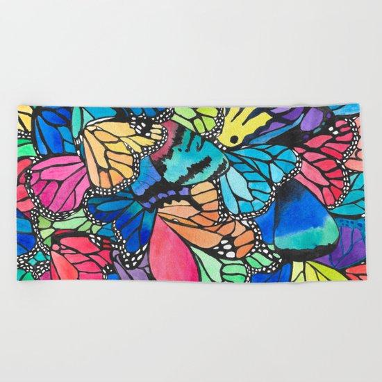 Butterfly Spark Beach Towel