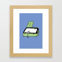 Checking My Phone Framed Art Print