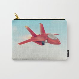 Red Jet fighter plane Carry-All Pouch