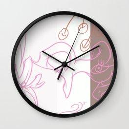 Giraflower  Wall Clock