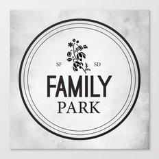 Family Park Canvas Print