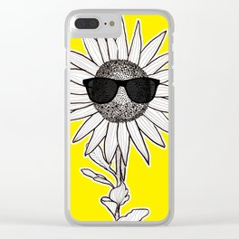 SunglassesFlower Clear iPhone Case