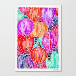 Vietnamese Lanters – Tertiary Palette Canvas Print
