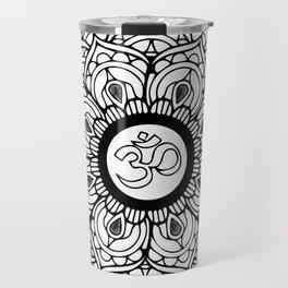 Om Hindu sacred sound symbol Mandala Travel Mug