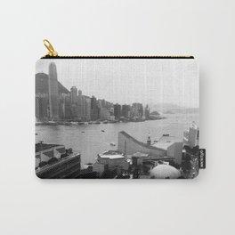 Hong Kong City Bay Black & White Monochrome Photography Art Print Carry-All Pouch