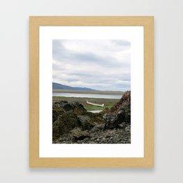 Abandoned :: A Lone Canoe Framed Art Print