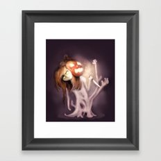 Dreaming of Halloween Framed Art Print