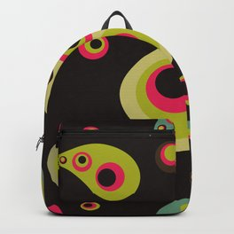 Oriental Persian Paisley, Dots - Green Pink Black Backpack