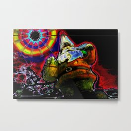 The Gnome Knows Metal Print