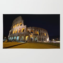 Colosseum illuminated in Rome. Rug