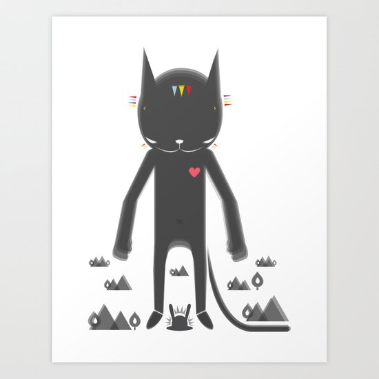 BLACK POND 2 Art Print