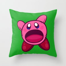 Hungry Hungry Kirby Throw Pillow