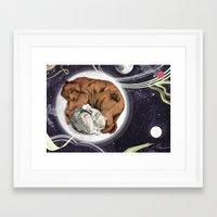 the moon Framed Art Prints featuring Moon by Sandra Dieckmann