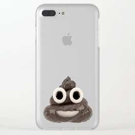 Pile of Poo Emoji Clear iPhone Case