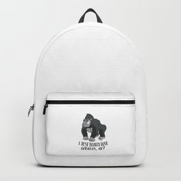 Funny Gorilla I Just Really Love Gorillas Backpack