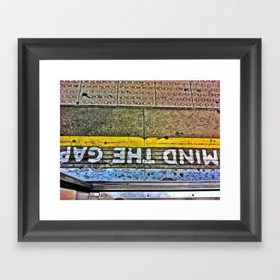 Mind the Gap- Colour Edition Framed Art Print