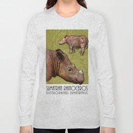 Sumatran Rhinoceros Long Sleeve T-shirt