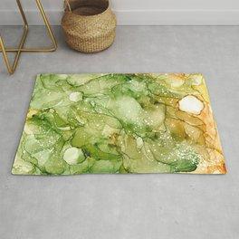 Green Abstract Art Rug
