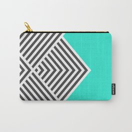 Minty Fresh Chevron Carry-All Pouch