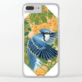 Autumn Song: Blue Jay and Cassia Clear iPhone Case