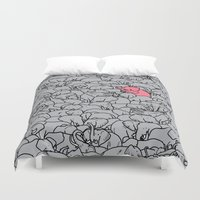 word Duvet Covers featuring Word 2 the Herd v1 by Jonah Makes Artstuff