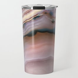 Pink and Blue agate 0425 Travel Mug