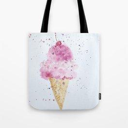 Ice cream Love Summer Watercolor Illustration Tote Bag