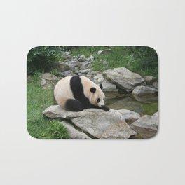 PANDA BEAR ON ROCK Bath Mat
