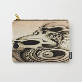 grunged skulls  Carry-All Pouch