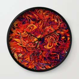 Holographic Boom Wall Clock