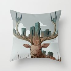 Unwelcome Visitor Throw Pillow