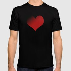 love red MEDIUM Mens Fitted Tee Black