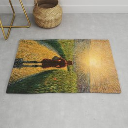Sicilian sunset by Pippo Rizzo Rug