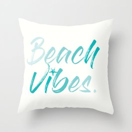 Beach Vibes Throw Pillow