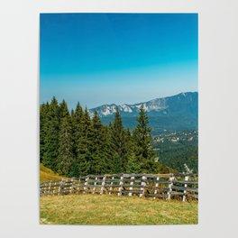 Carpathian Mountains Landscape, Travel Summer Landscape, Transylvania Mountains, Forests Of Romania Poster