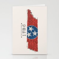 tennessee Stationery Cards featuring Tennessee: 1796 by Chad Madden