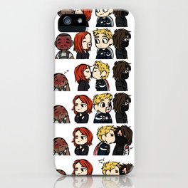 Card Kissing iPhone Case