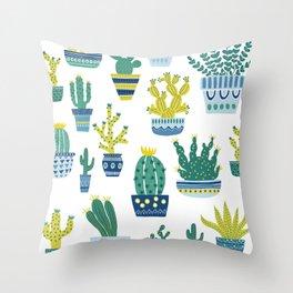 Cacti Pattern Throw Pillow