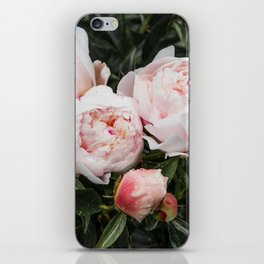 Flower Photography   Peonies Cluster   Blush Pink Floral   Peony iPhone Skin