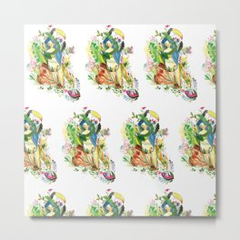 The tropical forest girl Metal Print
