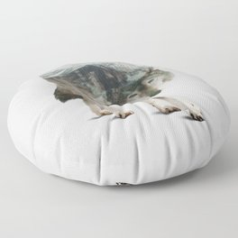 Winter Hunter Floor Pillow