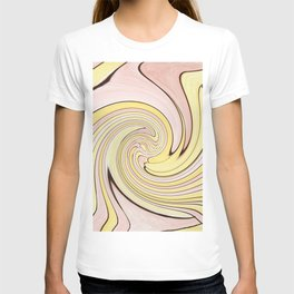 Pastel Lemon Drop Swirl T-shirt