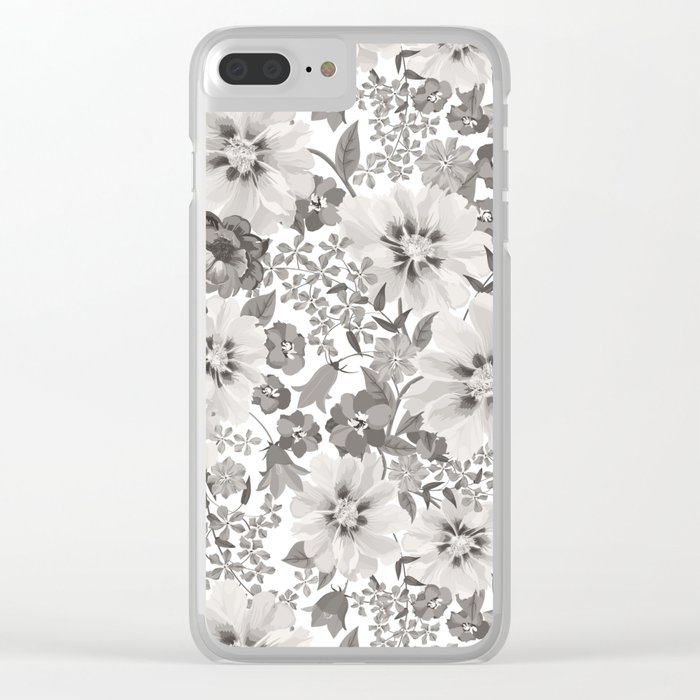 FLOWERS IV Clear iPhone Case